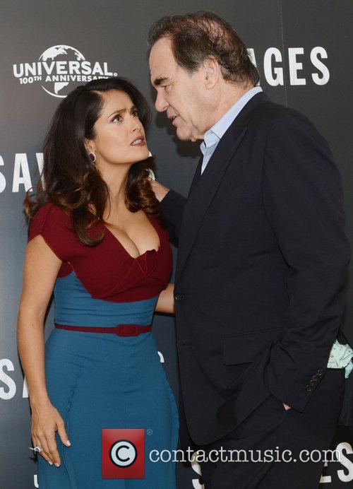 Oliver Stone, Salma Hayek, Savages, Mandarin Oriental, London and England