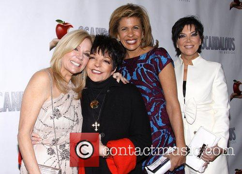 Kathie Lee Gifford, Liza Minnelli, Hoda Kotb, Kris Jenner, Scandalous The Musical, Neil Simon Theatre and Arrivals. New York City