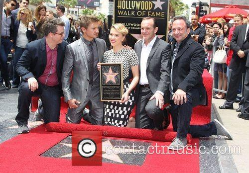 Jeremy Renner, Clark Gregg, Scarlett Johansson, The Avengers and Star On The Hollywood Walk Of Fame
