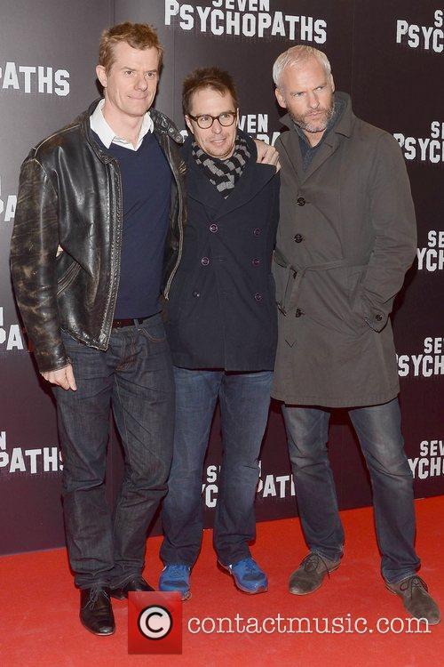 Graham Broadbent, Sam Rockwell and Martin Mcdonagh