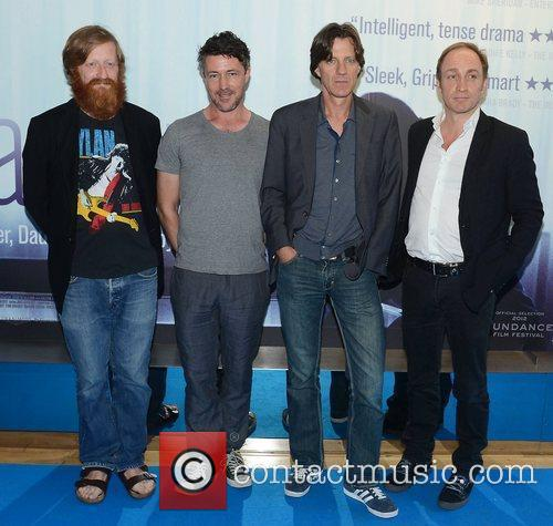 David Wilmot, Aidan Gillen, James Marsh and Michael Mcelhatton