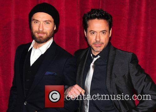 Robert Downey Jr, Jude Law and Empire Leicester Square