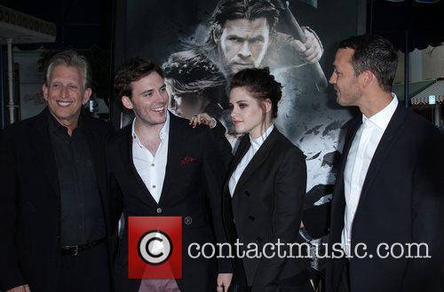 Joe Roth, Kristen Stewart and Sam Claflin