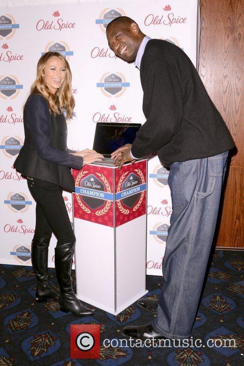 Stacy Keibler, Dikembe Mutombo, Dikembe Mutombo's, Weeks, Save The World Lauch, Event and New York City 11