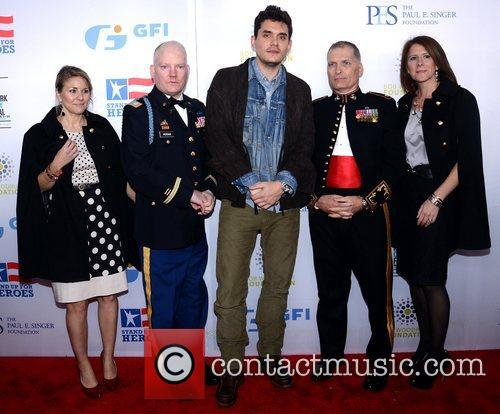 Patty Horan, Capt, Pat Horan, John Mayer, Lt. Col. Timothy Maxwell, Shannon Maxwell and Beacon Theatre