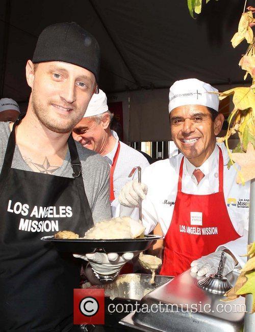 Chef Michael Voltaggio, Los Angeles Mayor Antonio and Villaraigosa 2