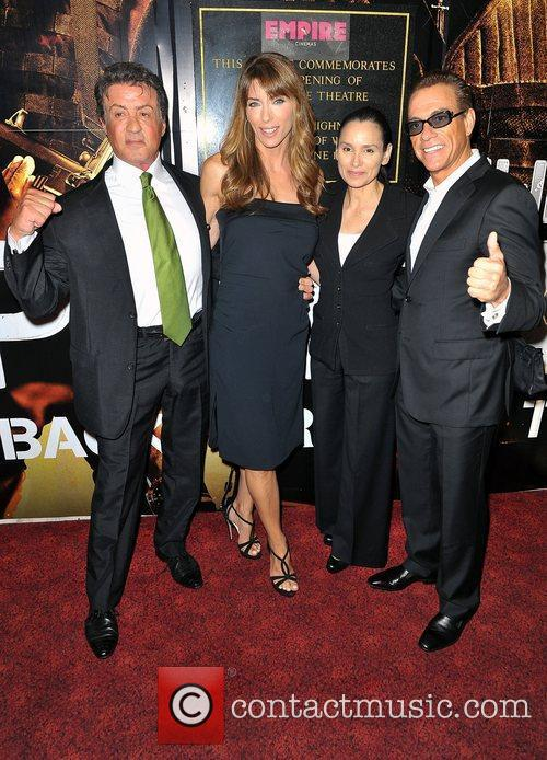 Sylvester Stallone, Jean Claude Van Damme and Empire Leicester Square