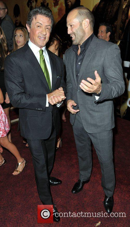 Sylvester Stallone, Jason Statham and Empire Leicester Square 2