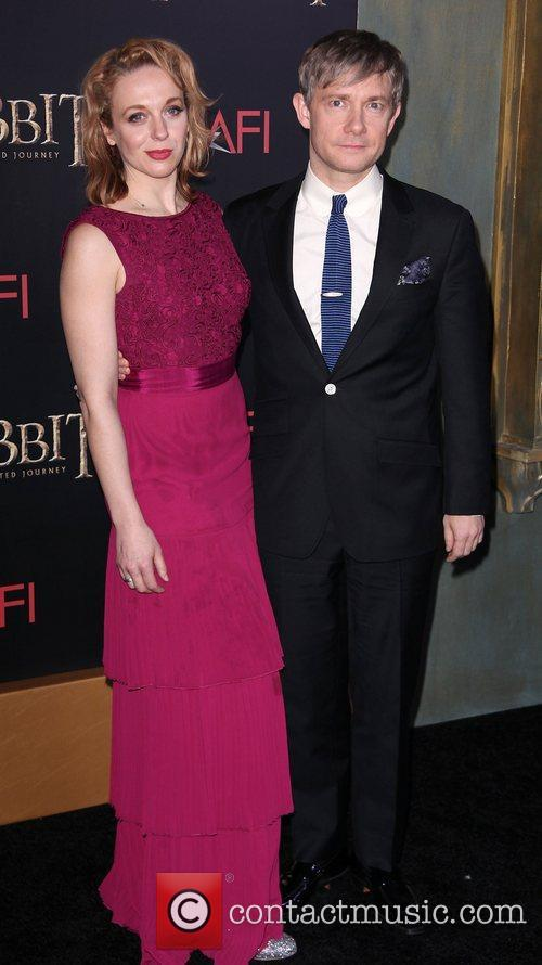 Martin Freeman, Amanda Abbington and Ziegfeld Theater 1