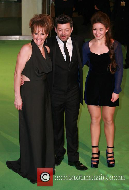 Lorraine Ashbourne, Andy Serkis and Ruby Serkis