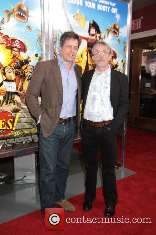 Hugh Grant, Peter Lord and Times Square