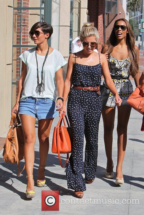 Frankie Sandford, Mollie King and Rochelle Wiseman