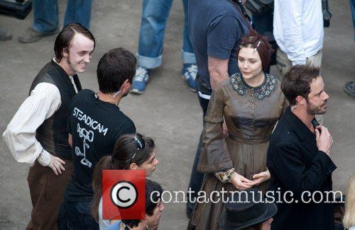 Tom Felton and Elizabeth Olsen 2