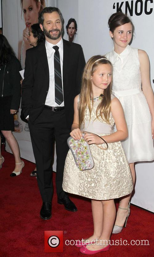 Judd Apatow, Maude Apatow, Iris Apatow, Grauman's Chinese Theatre and Leslie Mann