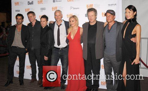 Colin Farrell, Abbie Cornish, Christopher Walken, Martin Mcdonagh, Olga Kurylenko, Sam Rockwell and Woody Harrelson 2
