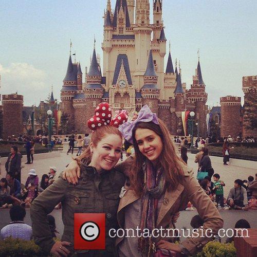 Jessica Alba and Disneyland 2