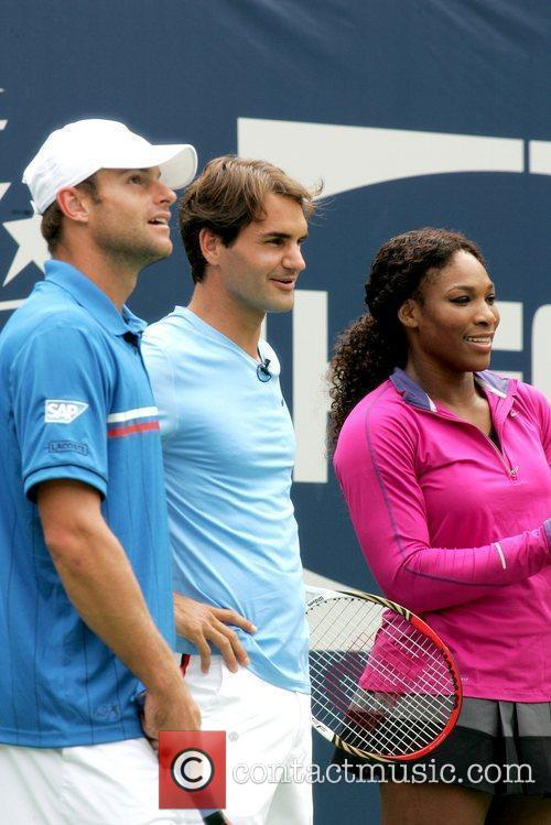 Andy Roddick, Roger Federer and Serena Williams 2