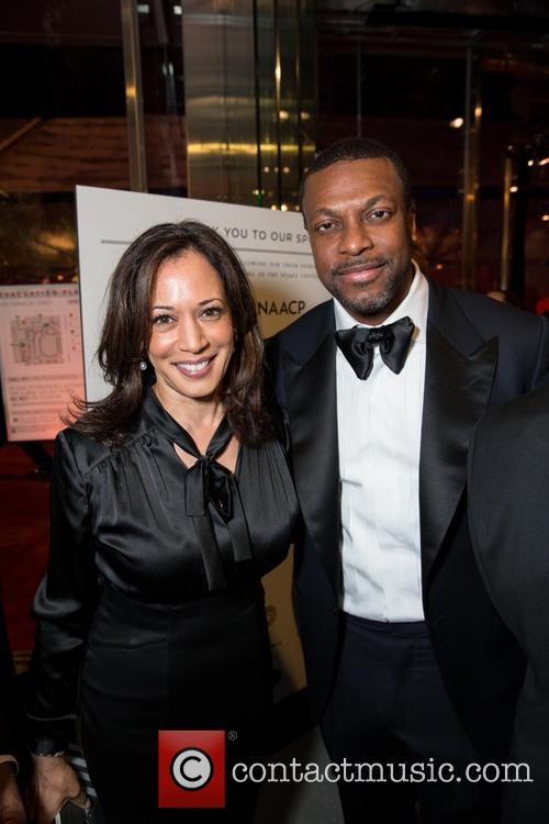 Kamala Harris and Chris Tucker