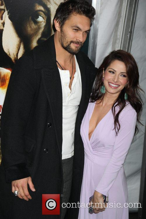 Sarah Shahi and Jason Momoa