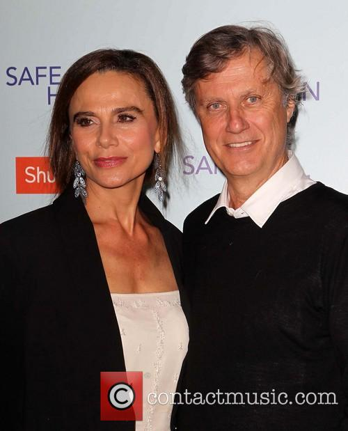 Lena Olin and Lasse Hallstrom