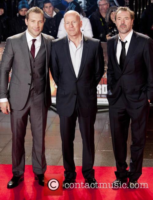 Jai Coutney, Bruce Willis and Sebastian Koch 1