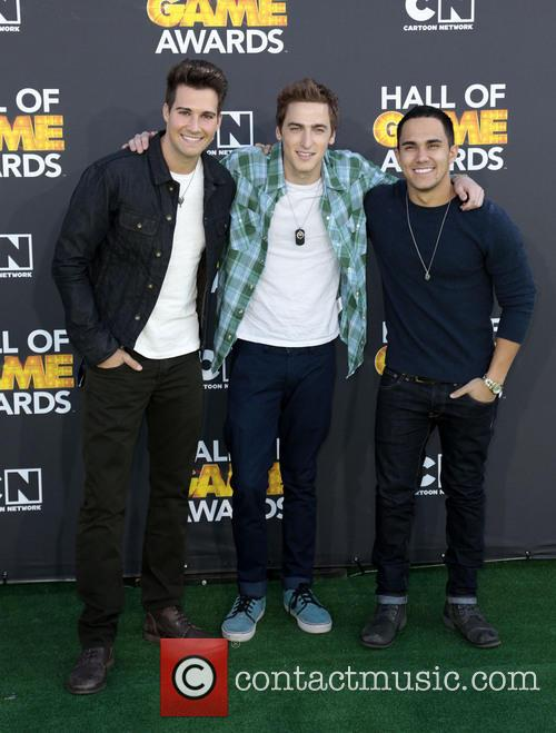 James Maslow, Kendall Schmidt, Carlos Pena and Cartoon Network