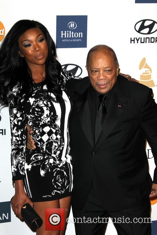 Brandy Norwood and Quincy Jones