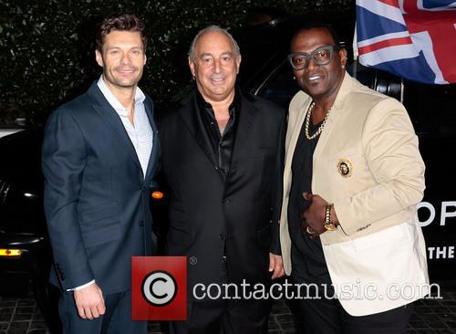 Ryan Seacrest, Sir Philip Green and Randy Jackson