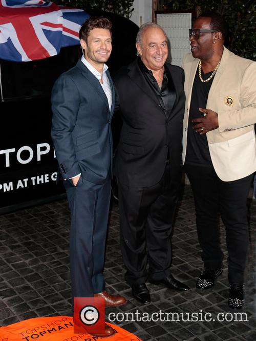 Ryan Seacrest, Sir Philip Green and Randy Jackson 1