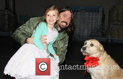 Dave Grohl, Harper Grohl and Sunny 4