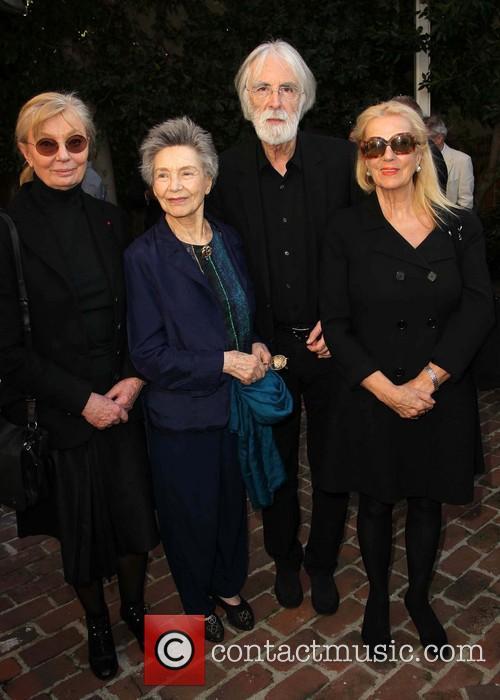 Margaret Menegoz, Emmanuelle Riva, Michael Haneke and Susanne Haneke