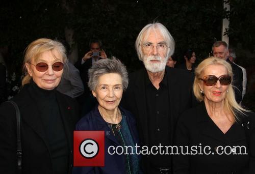 Margaret Menegoz, Emmanuelle Riva, Michael Haneke and Susanne Haneke 6