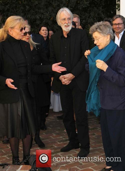 Margaret Menegoz, Michael Haneke and Emmanuelle Riva 8