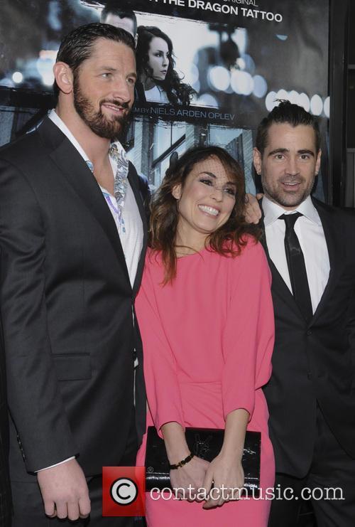 Wade Barrett, Noomi Rapace and Colin Farrell