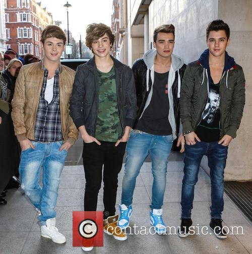 George Shelley, Jaymi Hensley, Josh Cuthbert, Jj Hamblett and Union J