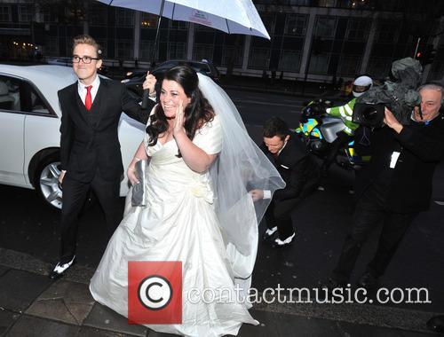 Tom Fletcher, Harry Judd and Bride Claire Gilchrist
