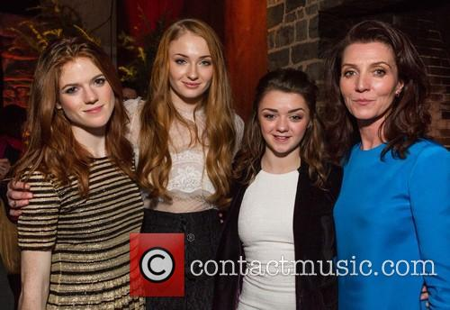 Rose Leslie, Sophie Turner, Maisie Williams and Michelle Fairley