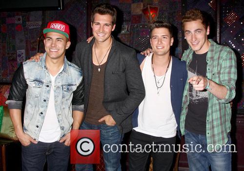 Carlos Roberto Pena Jr., James Maslow, Logan Henderson, Kendall Schmidt and Big Time Rush 2