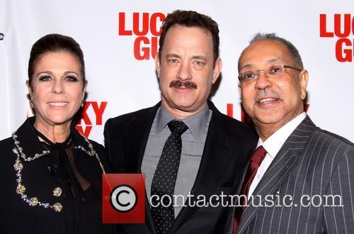 Rita Wilson, Tom Hanks and George C. Wolfe 6