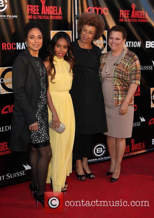 Jada Pinkett, (l-r) Director Shola Lynch, Activists Angela Davis and Debra Lee