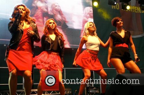Frankie Sandford, Mollie King, Una Healy and Vanessa White 5