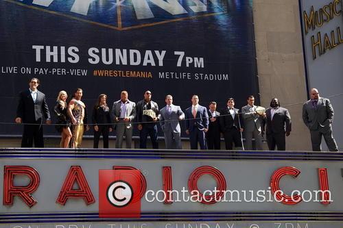 Cm Punk, Dwayne 'the Rock' Johnson and John Cena