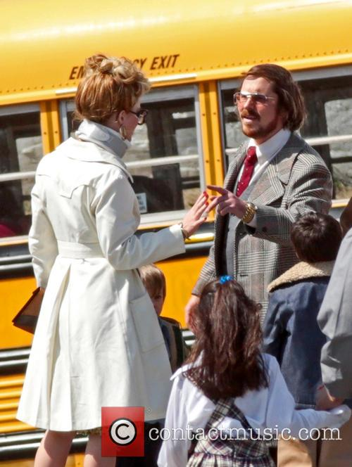 Jennifer Lawrence, Christian Bale and Amy Adams