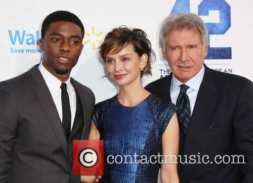Chadwick Boseman, Calista Flockhart and Harrison Ford