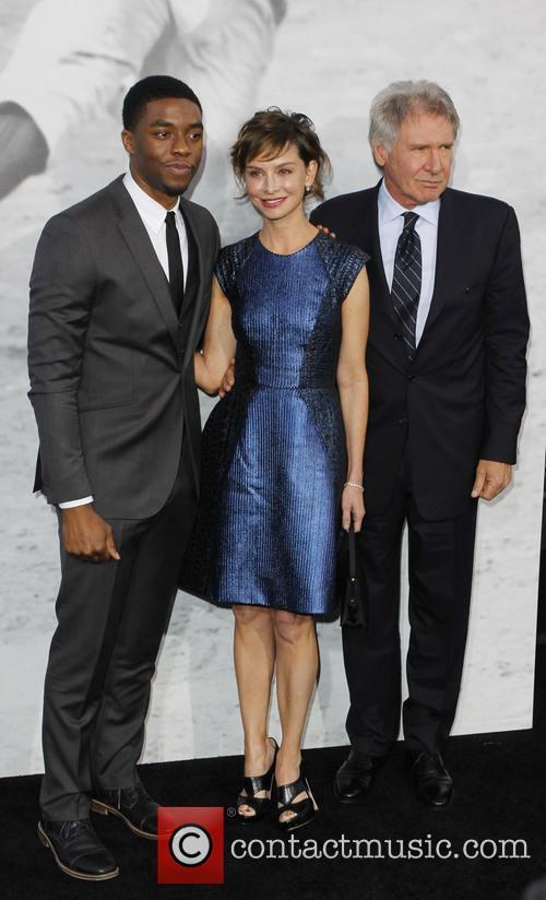 Chadwick Boseman, Harrison Ford and Calista Flockhart