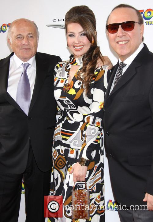Doug Morris, Thalia and Tommy Mottola