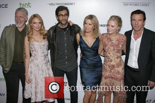 Clancy Brown, Heather Graham, Director Ramin Bahrani, Kim Dickens, Maika Monroe and Dennis Quaid