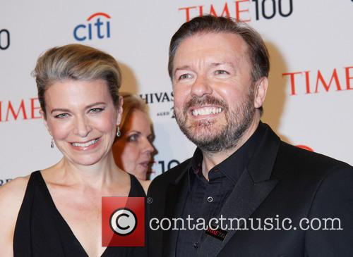 Jane Fallon and Ricky Gervais 2