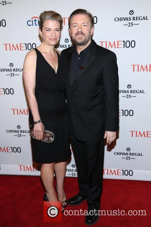 Jane Fallon and Ricky Gervais 1