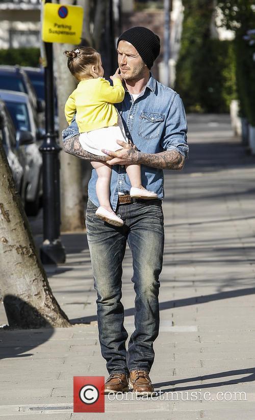 David Beckham and Harper Beckham 4